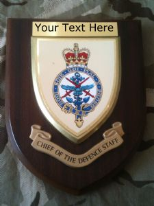 Chief of Defence Staff Personalised Military Wall Plaque